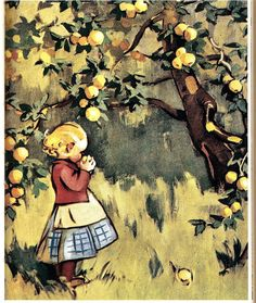 Fields In Arts, Apple Art, Pretty Drawings, Illustrations And Posters, Children's Book Illustration, Christmas Art, Beautiful Paintings, Landscape Art, Vintage Art