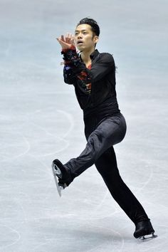 TOKYO, JAPAN - APRIL 12:  Daisuke Takahashi of Japan competes in the free program during day two of the ISU World Team Trophy at Yoyogi National Gymnasium on April 12, 2013 in Tokyo, Japan.