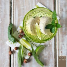 Hazelnut, Mint and Lime Ice Cream | Chew Town Food Blog
