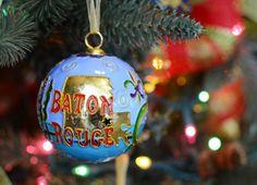 Cloisonne #Baton #Rouge Christmas Ornament