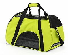 MaruPet Removable Pet Carrier Expansion Grid Portable Carrie Airline Approved Designed for Cats Dogs Kittens Puppies Green ** Check this awesome product by going to the link at the image.