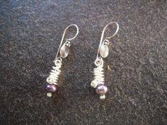 boucles d'oreilles wire avec perles de culture