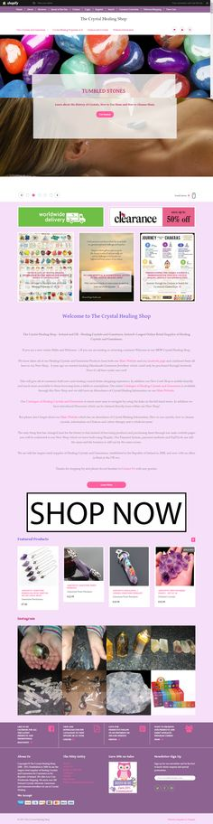 The Crystal Healing Shop - Healing Crystals and Gemstones Galore ! Healing Crystals, Crystals And Gemstones, Tumbled Stones, Site Design, Shopping, Yard Design, Website Designs, Design Websites