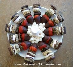 S'more and Strawberry Skewers