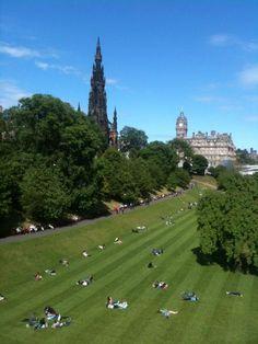 Gorgeous afternoon in Edinburgh, June 13, 2012