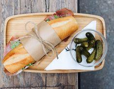 Alley Treats: The Prosciutto Sandwich with a side of cornichons. #butfirstcoffee®