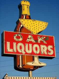 A grand old sign...Oaks Liquors.    In Murfreesboro,TN   photo by R.Edzard