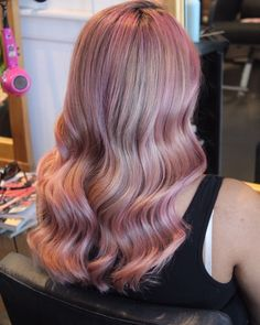 Loxy's tones in her hair - she's our kind of girl 😍 gorgeous colour work by Tessa 🙌🏼 . Wavy Hair, Her Hair, Hair Boutique, Natural Hair Styles, Long Hair Styles, Auckland, Pink Hair, Hair Goals, Hairdresser