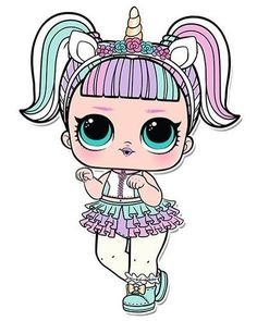 Confetti Pop Series 3 LOL Dolls are out! The series brought some exciting new additions and changes to the world of LOL Surprise… Unicorn Doll, Unicorn Headband, Kawaii Drawings, Cute Drawings, Kawaii 365, Unicorn Stickers, Buy Stickers, Doll Party, Lol Dolls