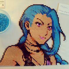 Jinx portrait - League of Legends hama beads by kat_hama