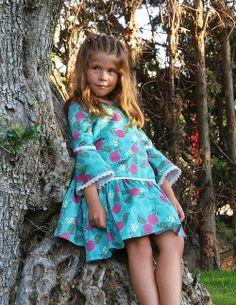 Vestido Flamenco, estampado Rosas - La Princesa de Condor en Erizzos Marketplace de tiendas para niños de 0 a 14 años