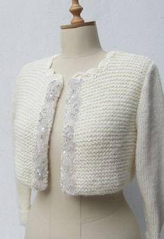 Wedding Bolero Bridal Shrug Rhinestone Beaded by crochetbutterfly, $125.00