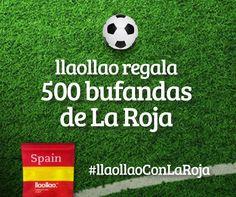 ¿Quieres ganar una bufanda para animar a la Selección Española durante el Mundial de Brasil? Participa en nuestro sorteo y podrás ganar una altar una de las 1000 bufandas que llaollao tiene ya preparadas para animar a la Selección Española. #llaollaoConLaRoja