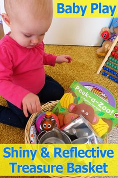 Activities for Babies: Shiny & Reflective Baby Treasure Basket  - Pinned by @PediaStaff – Please Visit  ht.ly/63sNt for all our pediatric therapy pins
