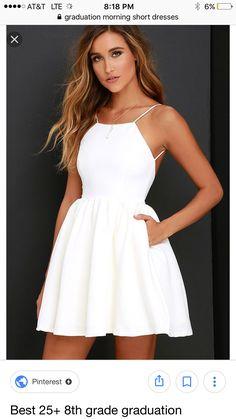Sexy White Spaghetti Straps Homecoming Dresses, Open Back Mini Prom Dresses – Graduation Dress Sexy Homecoming Dresses, Hoco Dresses, Pretty Dresses, Sexy Dresses, Beautiful Dresses, Dress Outfits, Dress Up, Summer Dresses, Elegant Dresses