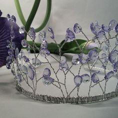 French Lavendar Tiara. Тиара, корона, диадема с лавандовыми кристаллами