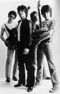 """Young Adam Clayton, Paul """"Bono"""" Hewson, Larry Mullen Jr, David """"The Edge"""" Evans. Music Love, Music Is Life, Rock Music, New Music, Adam Clayton, Pop Rock, Rock N Roll, Great Bands, Cool Bands"""