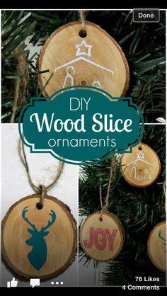 DIY wood slice ornament