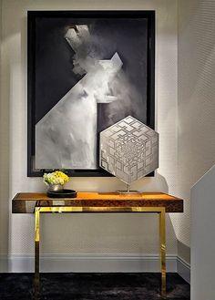 This modern entryway is beautiful! #InteriorDesign #PrettyDollfacedAZwww.PrettyDollfaced.com
