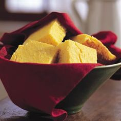 - 1 cup cornmeal, preferably stone ground - 1 cup unbleached all-purpose flour - 2⁄3 cup sugar - 1/2 tsp baking soda - 2 eggs - 1/2 tsp. salt - 1 cup buttermilk - 1/2 cup unsalted butter  Directions:  - Preheat oven to 375 degrees F  - Melt butter in large skillet. Remofrom heat and stir in sugar. Quickly add eggs and beat until well blended. Combine buttermilk with baking soda and stir into mixture in pan. Stir in cornmeal, flour, and salt until well blended - Bake for 30 to 40 minutes