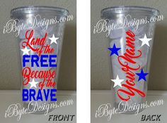 Custom  Patriotic  Land of the Free Because of the by iByteDesigns