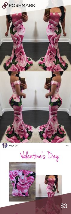 • Boutique Floral Gown 🌹 Worn once on Valentine's Day! 🌹 Thick and long (just as it shows on the model)! 🌹 NO tag/brand! 🌹 Double lined!   🔪 Prices are FIRM here on Posh! All offers will kindly be declined! 💋  ⭐️ Ask all questions below! ⭐️ Bundle discount is 5% off 2 + pieces on here! ⭐️ NOT Betsey Johnson! Put for exposure/views!  XO - AW - ☠️ Betsey Johnson Dresses Maxi