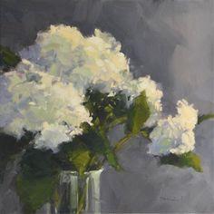 """Daily Paintworks - """"Hydrangea Bouquet"""" - Original Fine Art for Sale - © Laurel Daniel"""