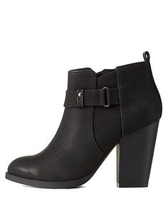 Designer Clothes, Shoes & Bags for Women Chunky Heel Ankle Boots, Black Ankle Boots, Black Booties, Chunky Heels, Ankle Booties, Bootie Boots, Short Black Boots, Crazy Shoes, Leather Booties