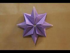 Origami christmas star - YouTube