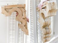 Build your own DIY corbels with vintage character to add to your kitchen island, mantel or wall shelf.