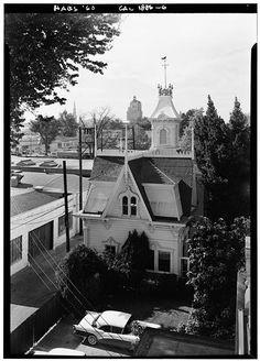 21.   October 1960 STABLE - EAST ELEVATION - Albert Gallatin House, 1527 H Street, Sacramento, Sacramento County, CA