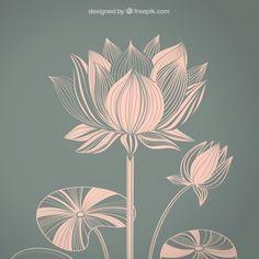 Image result for lotus leaves art nouveau