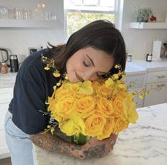 Julia Michaels, Cute Couples, My Girl, Ruffle Blouse, People, Beautiful, Safe Place, Women, Yellow Flowers