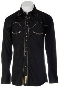 Stetson Tall Mens Black 100/% Cotton Birch Check L//S Shirt