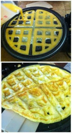 Great Kitchen ideas: You Can Also Use the Waffle Iron for Eggs