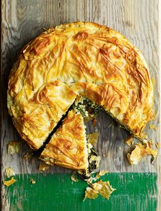 Debbie Major's wild garlic and goat's cheese pie recipe is based on the Greek dish, spanokopita, which is made with a mixture of wild greens.