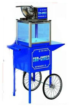 Sno-Cone Machine With Cart you can rent for your special events.  Machine and Cart rented separately.  Sno-Cone Syrup and supplies sold separately.  wwww.PreferredPartyPlace.com