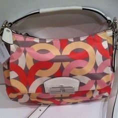 Kristen chain link print east-west crossbody bag. Price: $199  GIACONIS- BOUTIQUE.COM