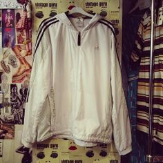 Men's Adidas tracksuit top £18 size L #adidas #tracksuit #jacket #top #designer #label #brand #genuine #authentic #quality #sport #sportswear #menswear #lightweight #summer #vintage #style #retro #fashion #trend #vintageguruscotland #byresroad #twitter