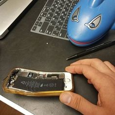 A little bent? #iphone #ranoverbyacar #repairsharks