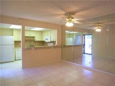 $79,900. Mirrored wall makes dining area appear larger and brightens room with reflected light! Also for rent.