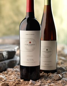 CF Napa Brand Design - Clif Family - not just nutrition bars! Wine Packaging, Packaging Design, Branding Design, Label Design, Wine Design, Bottle Design, Wine Advertising, Wine Down, Custom Bottles
