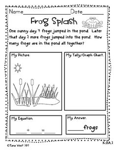 Addition Story Problems aligned to Common Core {Freebie} Kindergarten Math Activities, Math Resources, Teaching Math, Math For Kids, Fun Math, Math Math, Math Games, Maths, Math Addition