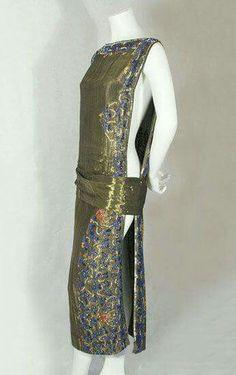 Beaded lame dress 1920's.