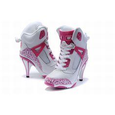 2ebb09fb801 white and pink michael jordan 3.5 hi heels for women