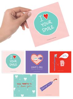 Fun ideas for Valentine's Day cards for dental professionals.