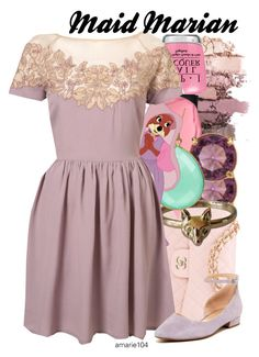 """""""Maid Marian"""" by amarie104 ❤ liked on Polyvore featuring OPI, Carolee, Chanel, Disney, Edition and Franco Sarto"""