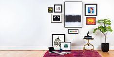 From curating to framing to hanging, these companies make it easier than ever to collect and display art Art Hanging System, Hanging Art, Exterior Design, Interior And Exterior, Salon Pictures, Picture Hangers, Architectural Digest, Types Of Art, Design Firms