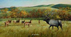 Jim Killen Elk Painting