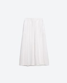 Image 8 of ANKLE LENGTH BOX PLEAT SKIRT from Zara